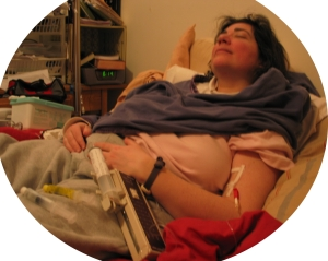 Sharon Falls Asleep while Infusing
