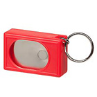 Large bright red clicker with keychain loop.